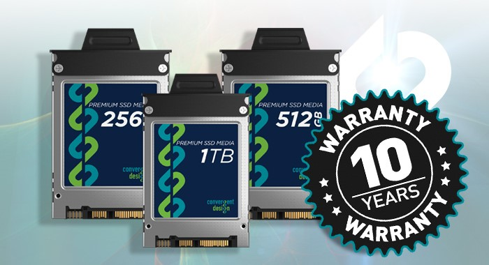 New Convergent Design SSDs to get 10 Year Warranty