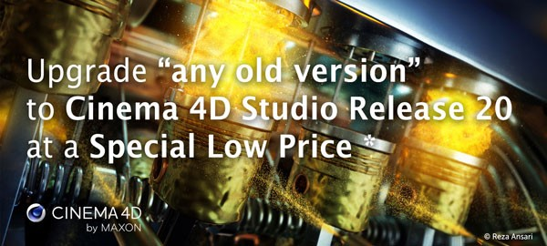 MAXON Promo: Upgrade older versions of Cinema 4D for only $2,895 inc GST!