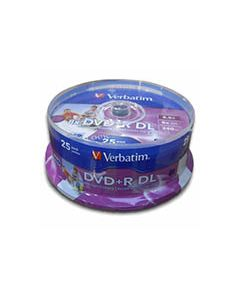 Verbatim DVD+R DL 8.5GB White Inkjet (25)