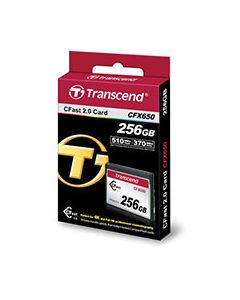 Transcend 256GB CFX650 for Blackmagic URSA cameras